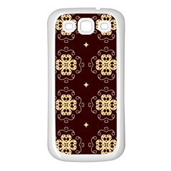 Seamless Ornament Symmetry Lines Samsung Galaxy S3 Back Case (white)