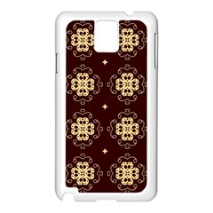 Seamless Ornament Symmetry Lines Samsung Galaxy Note 3 N9005 Case (White)