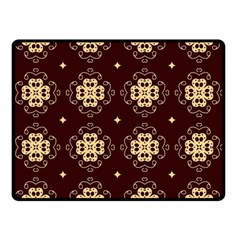 Seamless Ornament Symmetry Lines Double Sided Fleece Blanket (Small)