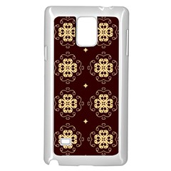 Seamless Ornament Symmetry Lines Samsung Galaxy Note 4 Case (White)