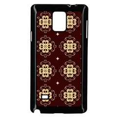 Seamless Ornament Symmetry Lines Samsung Galaxy Note 4 Case (black)