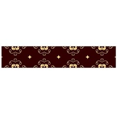 Seamless Ornament Symmetry Lines Flano Scarf (Large)