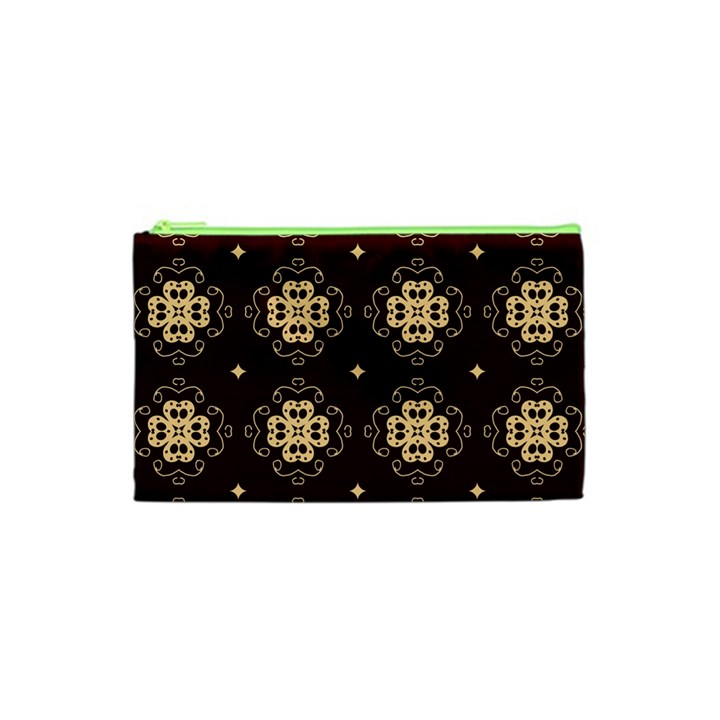 Seamless Ornament Symmetry Lines Cosmetic Bag (XS)