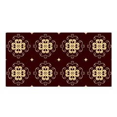Seamless Ornament Symmetry Lines Satin Shawl