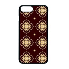 Seamless Ornament Symmetry Lines Apple Iphone 7 Plus Seamless Case (black)