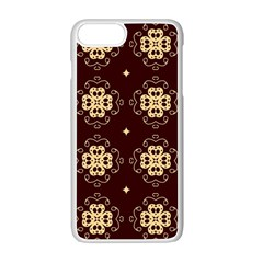 Seamless Ornament Symmetry Lines Apple Iphone 7 Plus White Seamless Case