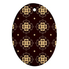 Seamless Ornament Symmetry Lines Ornament (oval)