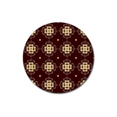Seamless Ornament Symmetry Lines Magnet 3  (Round)