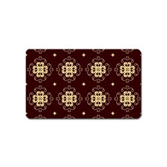 Seamless Ornament Symmetry Lines Magnet (name Card)