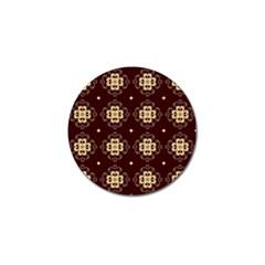 Seamless Ornament Symmetry Lines Golf Ball Marker