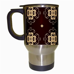 Seamless Ornament Symmetry Lines Travel Mugs (White)