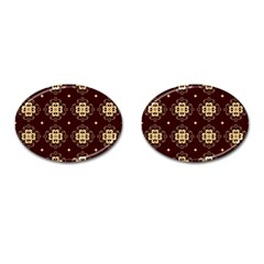 Seamless Ornament Symmetry Lines Cufflinks (Oval)