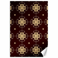 Seamless Ornament Symmetry Lines Canvas 20  x 30