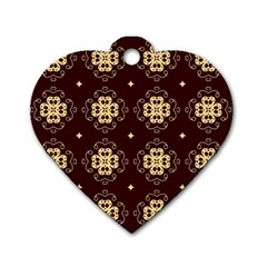 Seamless Ornament Symmetry Lines Dog Tag Heart (Two Sides)