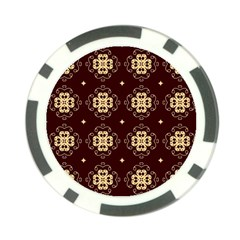 Seamless Ornament Symmetry Lines Poker Chip Card Guard
