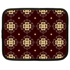 Seamless Ornament Symmetry Lines Netbook Case (Large)