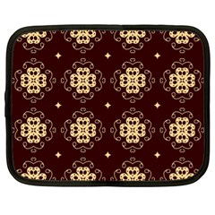 Seamless Ornament Symmetry Lines Netbook Case (XL)