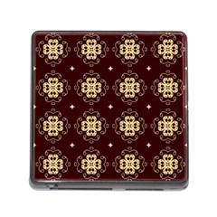 Seamless Ornament Symmetry Lines Memory Card Reader (Square)