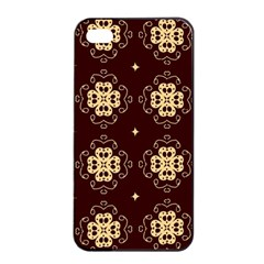 Seamless Ornament Symmetry Lines Apple iPhone 4/4s Seamless Case (Black)