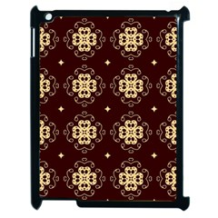 Seamless Ornament Symmetry Lines Apple iPad 2 Case (Black)