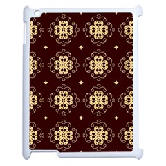 Seamless Ornament Symmetry Lines Apple iPad 2 Case (White)