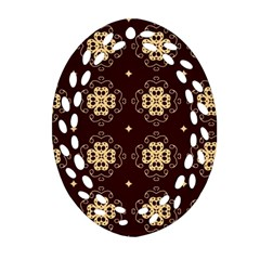 Seamless Ornament Symmetry Lines Oval Filigree Ornament (Two Sides)