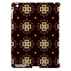 Seamless Ornament Symmetry Lines Apple iPad 3/4 Hardshell Case (Compatible with Smart Cover)
