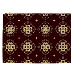 Seamless Ornament Symmetry Lines Cosmetic Bag (XXL)