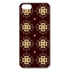 Seamless Ornament Symmetry Lines Apple Seamless iPhone 5 Case (Clear)