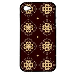 Seamless Ornament Symmetry Lines Apple iPhone 4/4S Hardshell Case (PC+Silicone)
