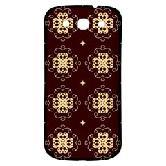 Seamless Ornament Symmetry Lines Samsung Galaxy S3 S III Classic Hardshell Back Case