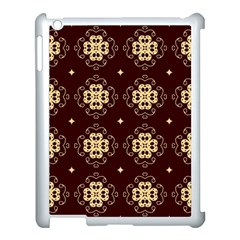 Seamless Ornament Symmetry Lines Apple iPad 3/4 Case (White)