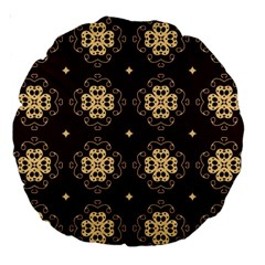 Seamless Ornament Symmetry Lines Large 18  Premium Round Cushions