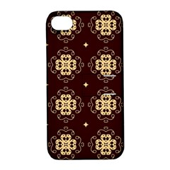 Seamless Ornament Symmetry Lines Apple iPhone 4/4S Hardshell Case with Stand