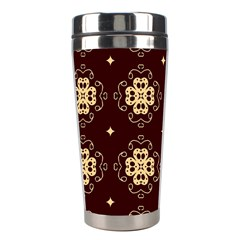 Seamless Ornament Symmetry Lines Stainless Steel Travel Tumblers