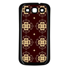 Seamless Ornament Symmetry Lines Samsung Galaxy S3 Back Case (Black)
