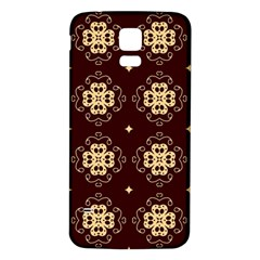 Seamless Ornament Symmetry Lines Samsung Galaxy S5 Back Case (White)