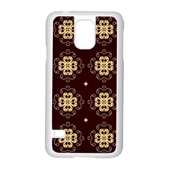Seamless Ornament Symmetry Lines Samsung Galaxy S5 Case (White)