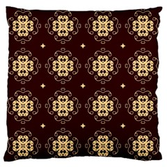 Seamless Ornament Symmetry Lines Large Flano Cushion Case (One Side)