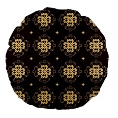 Seamless Ornament Symmetry Lines Large 18  Premium Flano Round Cushions
