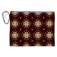 Seamless Ornament Symmetry Lines Canvas Cosmetic Bag (XXL)