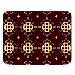 Seamless Ornament Symmetry Lines Double Sided Flano Blanket (large)