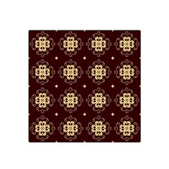 Seamless Ornament Symmetry Lines Satin Bandana Scarf