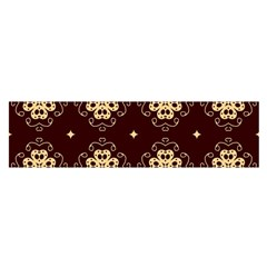 Seamless Ornament Symmetry Lines Satin Scarf (Oblong)
