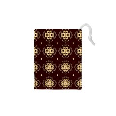 Seamless Ornament Symmetry Lines Drawstring Pouches (xs)