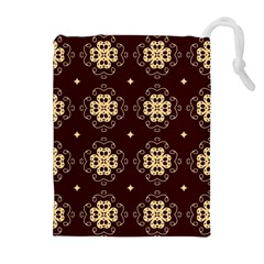 Seamless Ornament Symmetry Lines Drawstring Pouches (extra Large)
