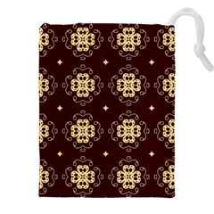 Seamless Ornament Symmetry Lines Drawstring Pouches (XXL)