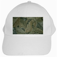 Vintage Background Green Leaves White Cap