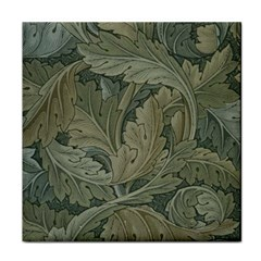 Vintage Background Green Leaves Tile Coasters
