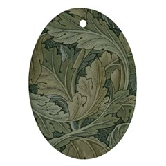 Vintage Background Green Leaves Ornament (oval)